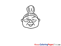 Grandmother free printable Coloring Sheets