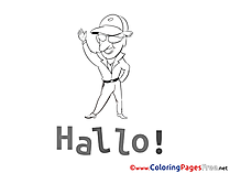 Hello Kids free Coloring Page