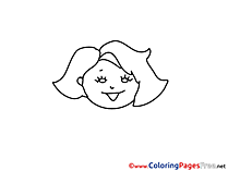 Illustration free Colouring Page download Woman