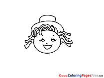 Little Girl download printable Coloring Pages