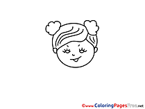 Little Girl free printable Coloring Sheets