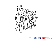Office Workers printable Coloring Pages for free