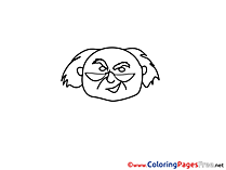 Old Man Kids download Coloring Pages