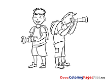 Photographers download Colouring Sheet free
