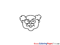 Professor Children Coloring Pages free