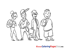 Queue Colouring Sheet download free