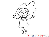Skipping Rope free printable Coloring Sheets