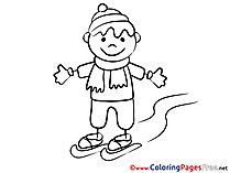 Sport Winter printable Coloring Sheets download