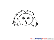 Surprised Woman Coloring Pages for free