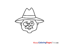 Teacher Children Coloring Pages free