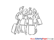Vacation Coloring Sheets download free