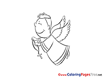 Angel Christening free Coloring Pages