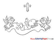 Angel Coloring Pages Christening