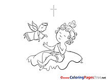 Baby Christening Coloring Pages free