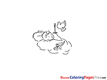 Baby Colouring Sheet download Christening