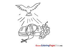 Bible Coloring Sheets Christening free