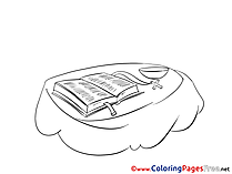 Bible Kids Christening Coloring Pages