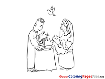 Christening free Coloring Pages Priest