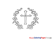 Cross Coloring Pages Christening