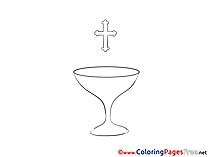 Cup Christening free Coloring Pages