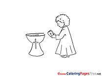 Prayer Colouring Sheet download Christening