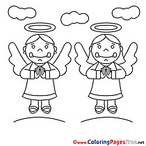 Angels free Colouring Page Communion