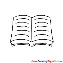Bible for Kids Communion Colouring Page