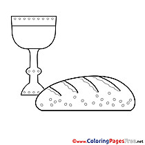 Bread Kids Communion Coloring Page