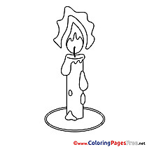 Candle Coloring Sheets Communion free
