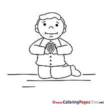 Children Communion Colouring Page
