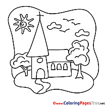 Church Communion Coloring Pages download