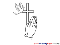 Communion free Coloring Pages