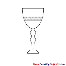 Cup printable Communion Coloring Sheets
