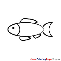 Fish Communion Coloring Pages free