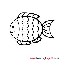 Fish Kids Communion Coloring Pages