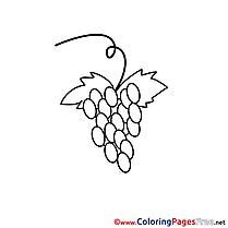 Grapes Coloring Pages Communion
