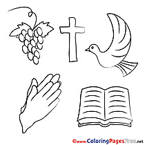 Holiday Communion free Coloring Pages