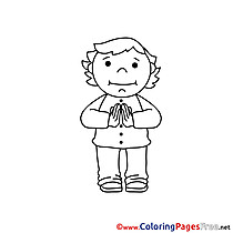 Priest Communion Colouring Sheet free