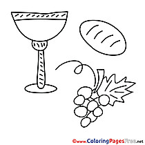 Religion Colouring Page Communion free