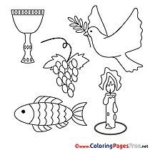 Religion download Communion Coloring Pages