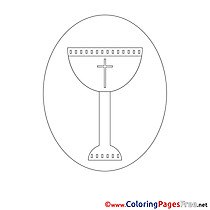 Wine Coloring Pages Communion
