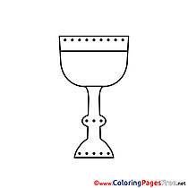 Wine free Colouring Page Communion