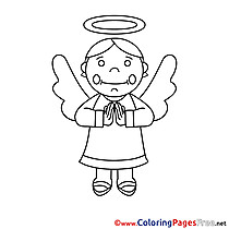 Angel Coloring Pages Confirmation