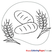 Bread Colouring Page Confirmation free