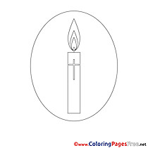 Candle Confirmation Colouring Sheet free