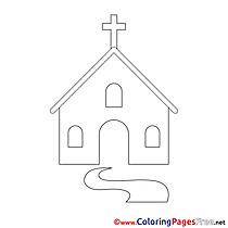 Churche printable Confirmation Coloring Sheets