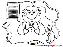 Confirmation Coloring Pages free Priest