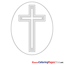 Cross Children Confirmation Colouring Page
