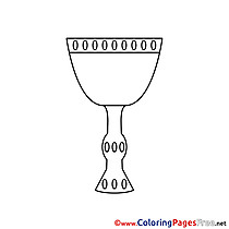 Cup Colouring Page Confirmation free
