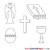 Decoration Children Confirmation Colouring Page